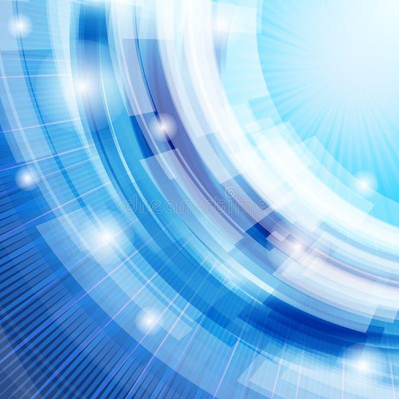 Fondo azul abstracto de Techno imagen de archivo