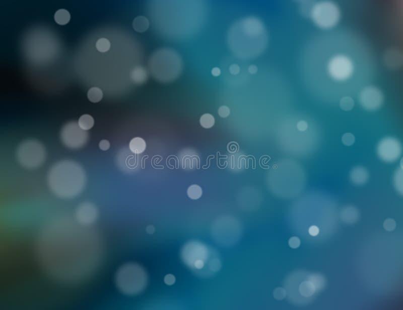 Fondo azul abstracto del bokeh ilustración del vector