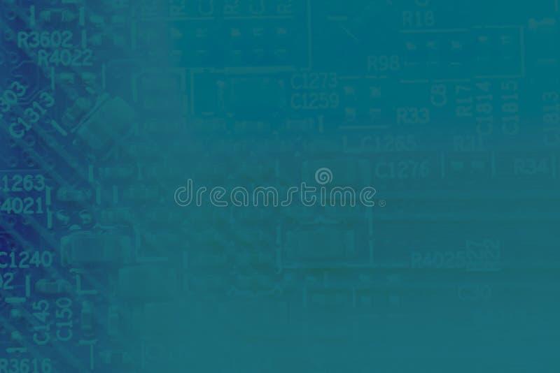 Fondo azul abstracto del color de la laguna del PWB imagen de archivo libre de regalías