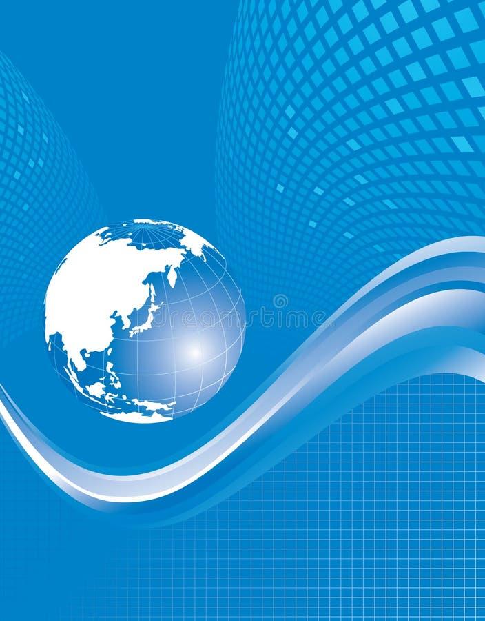 Fondo azul abstracto del globo ilustración del vector