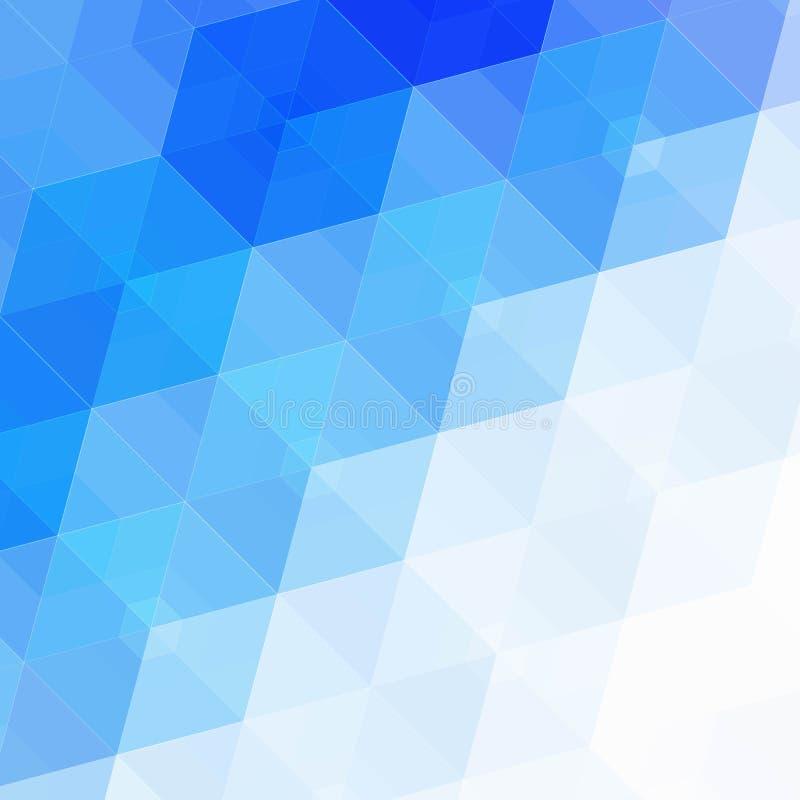 Fondo azul abstracto del hexágono Diseño poligonal de la tecnología Minimalismo futurista de Digitaces Vector del mosaico de la r stock de ilustración