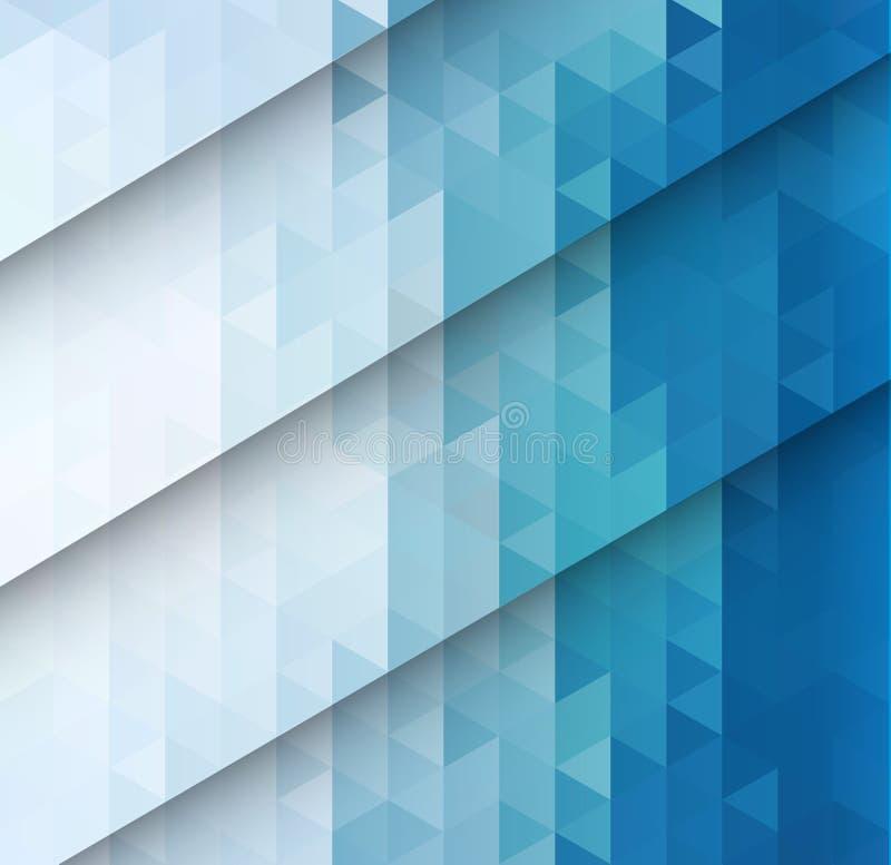 Fondo azul abstracto del mosaico stock de ilustración