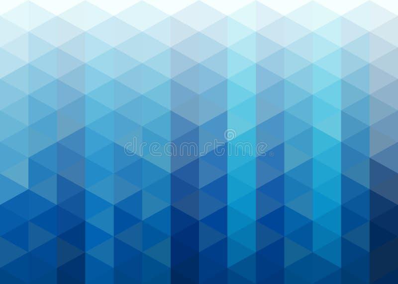 Fondo azul abstracto del mosaico de los triángulos ilustración del vector