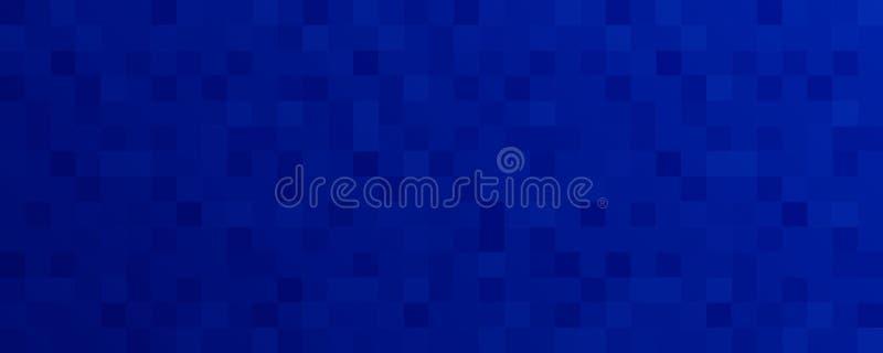 Fondo azul abstracto del mosaico del pixel - Vector el ejemplo libre illustration