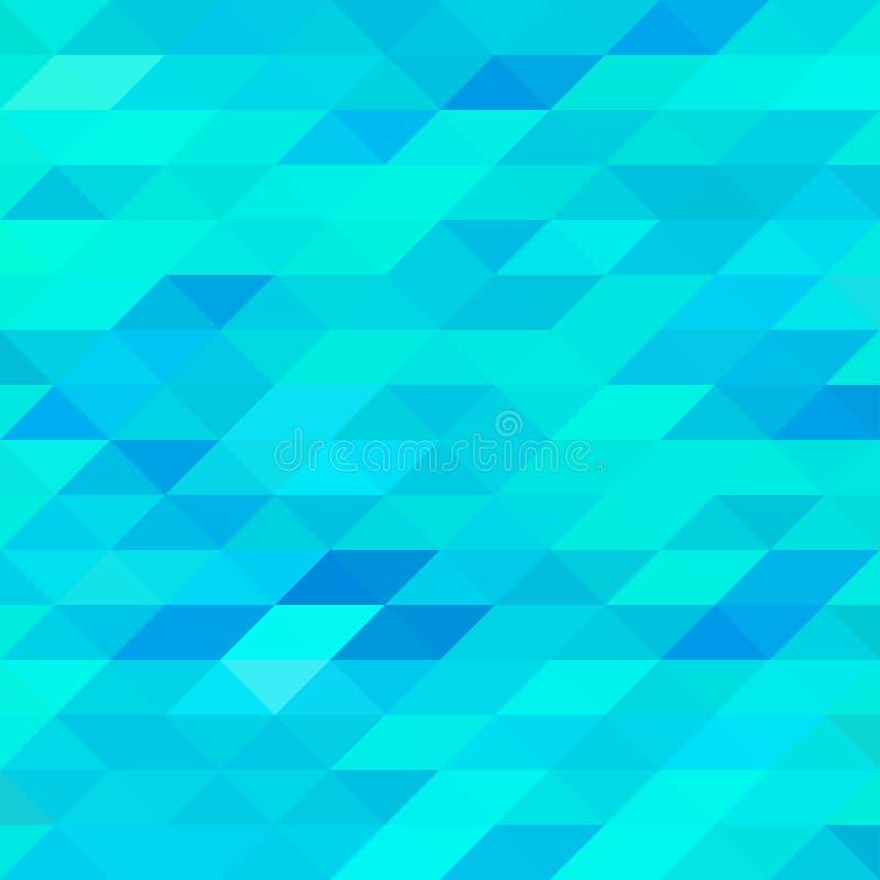 Fondo azul abstracto del triángulo libre illustration