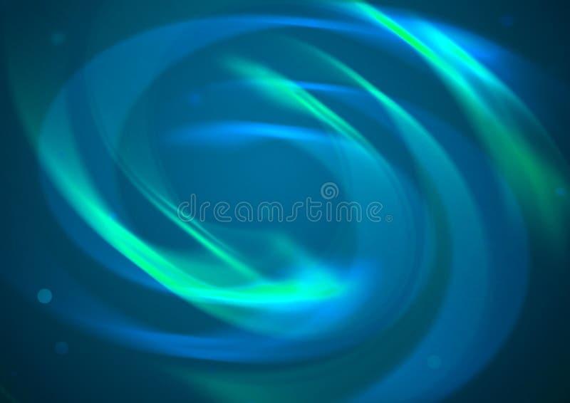 Fondo azul abstracto del vórtice imagen de archivo