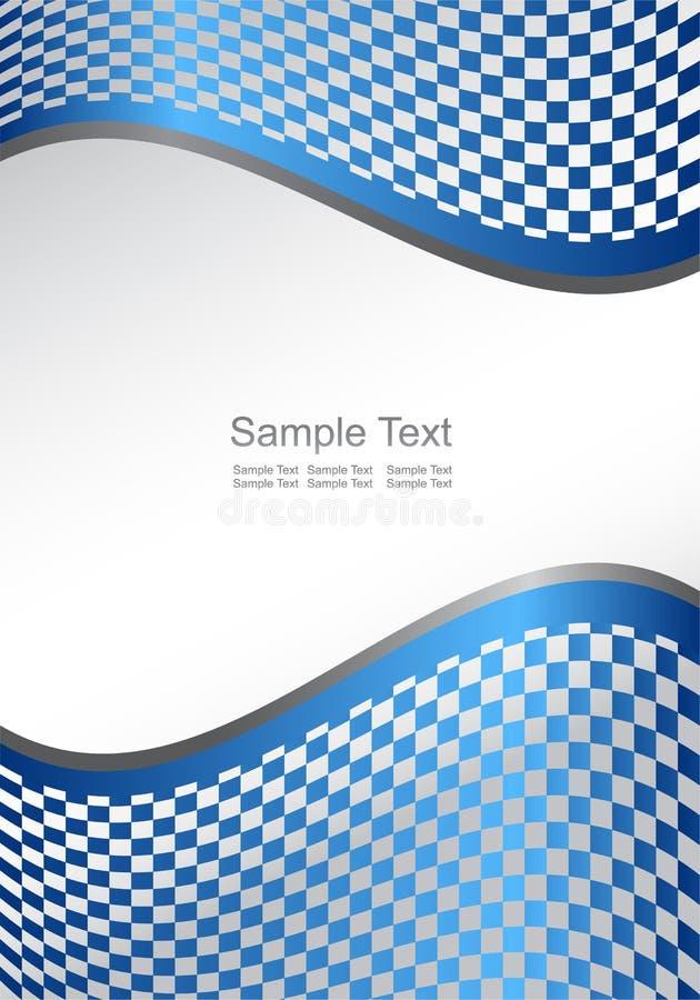 Fondo azul abstracto del vector (vertical) stock de ilustración