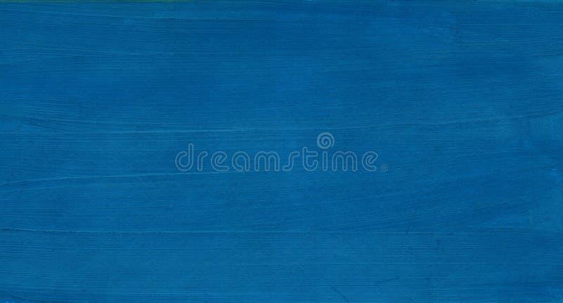 Fondo azul abstracto Mar oscuro del cielo con la onda Textura de una pintura en el ejemplo exhausto de la mano del papel foto de archivo libre de regalías