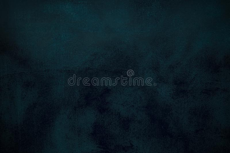 Fondo azul abstracto o fondo negro con las porciones de textura apenada áspera del fondo del grunge del vintage imagenes de archivo