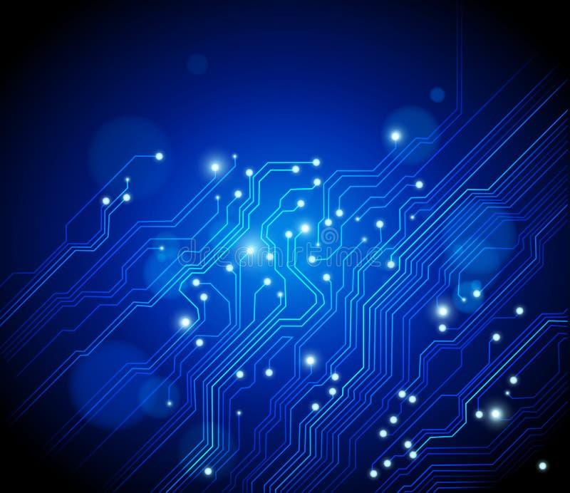Fondo azul abstracto - tecnología ilustración del vector