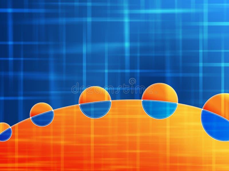 Fondo azul anaranjado libre illustration