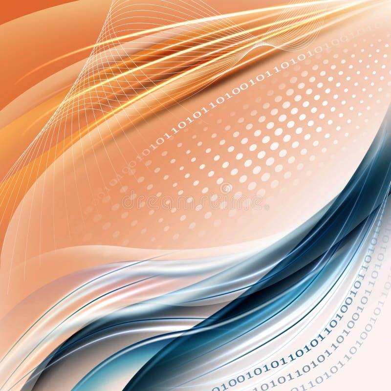 Fondo azul-anaranjado abstracto stock de ilustración