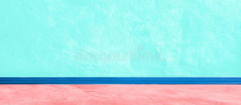 Fondo azul ancho de Aqua Wall Concrete Painted Texture para la pintura del yeso de la bandera áspera con la alta resolución de la fotografía de archivo libre de regalías