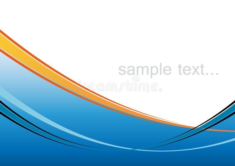 Fondo azul artístico ilustración del vector