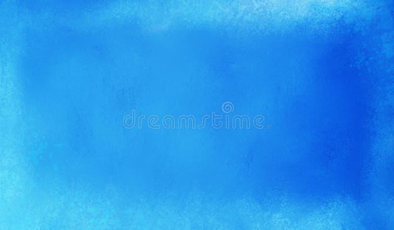 Fondo azul brillante con la vieja textura blanca del grunge del vintage fotografía de archivo libre de regalías