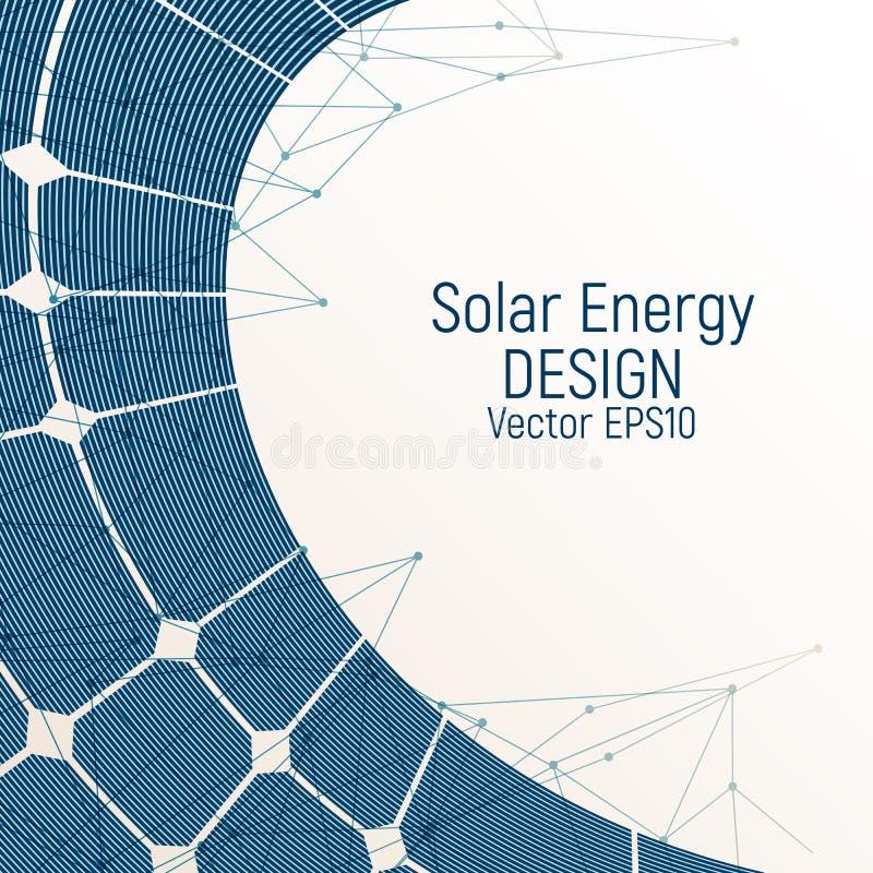 Fondo azul brillante con un panel solar ilustración del vector