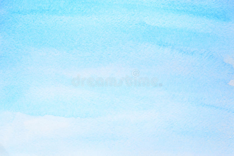 Fondo azul ciánico del extracto de la acuarela stock de ilustración
