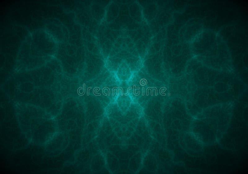 Fondo azul ciánico hipnótico espiritual abstracto ilustración del vector
