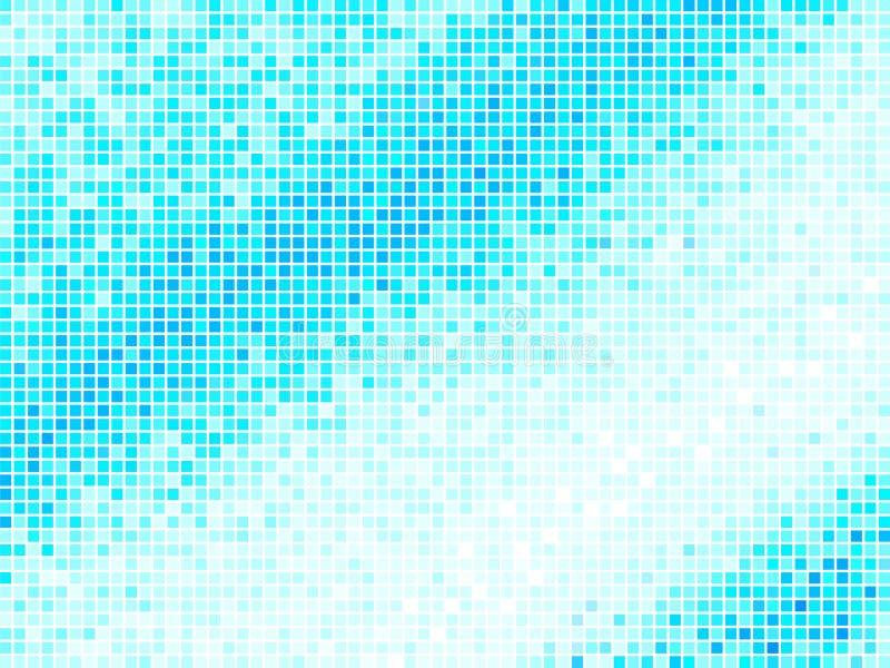Fondo azul claro abstracto multicolor del azulejo libre illustration