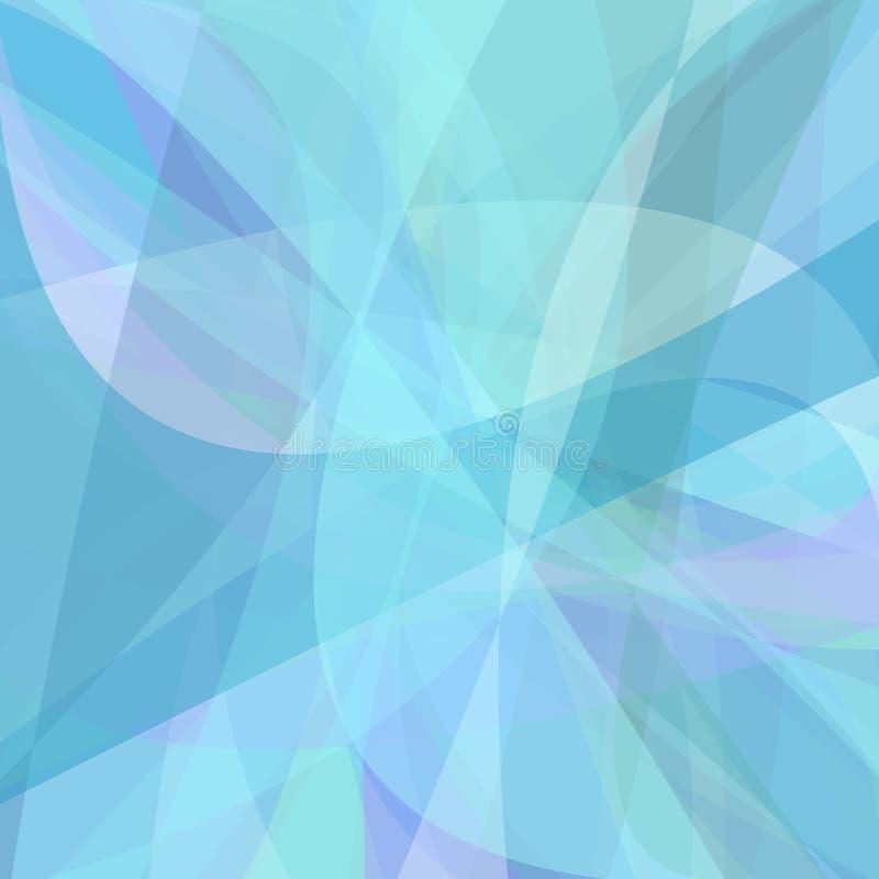 Fondo azul claro de curvas dinámicas ilustración del vector