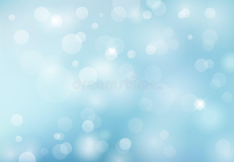 Fondo azul claro de la primavera del bokeh abstracto del verano Illus del vector ilustración del vector