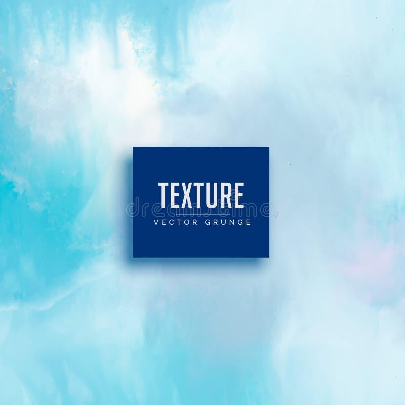 Fondo azul claro de la textura de la acuarela stock de ilustración