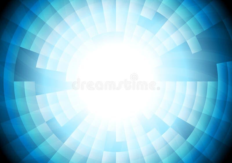 Fondo azul claro del engranaje del vector de la tecnología ilustración del vector