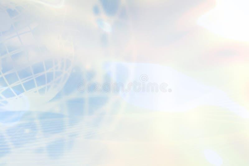 Fondo azul claro del globo stock de ilustración