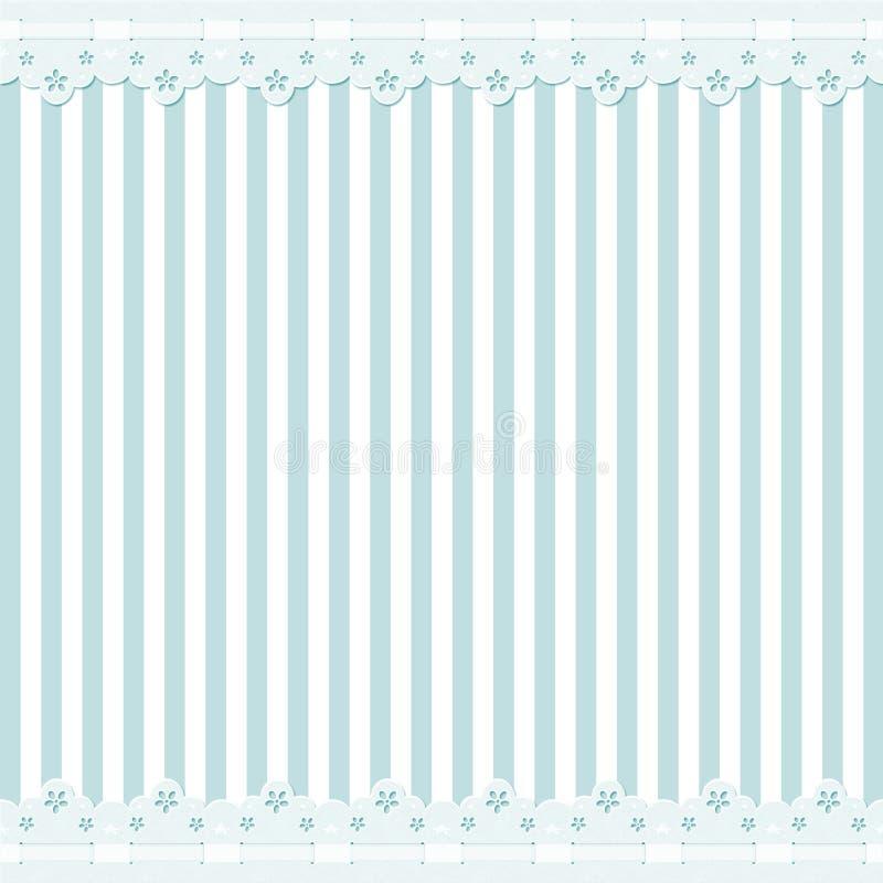 Fondo azul con el marco del cordón ilustración del vector