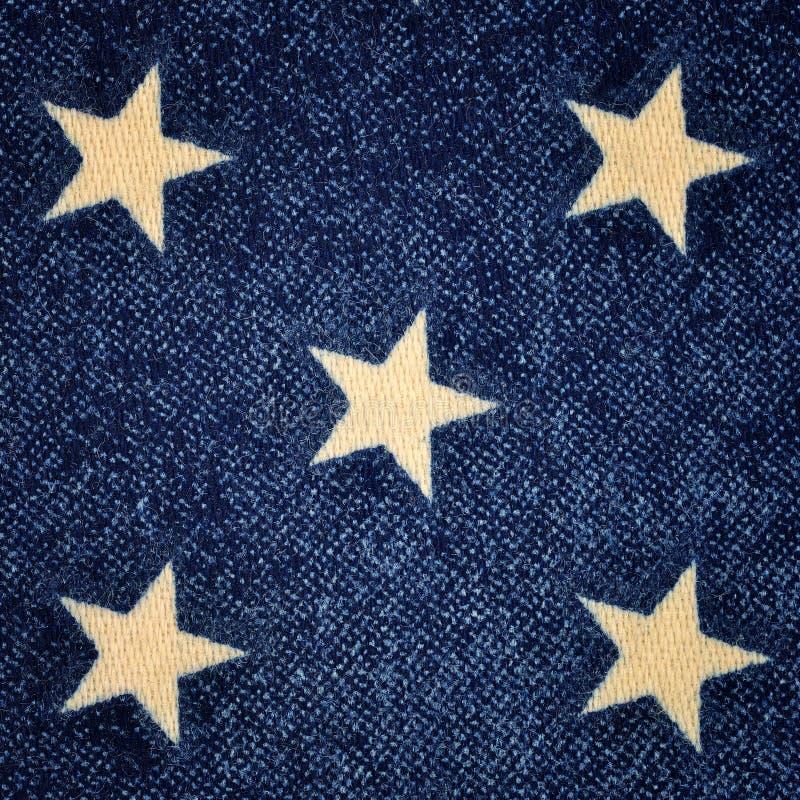 Fondo azul con las estrellas blancas fotos de archivo