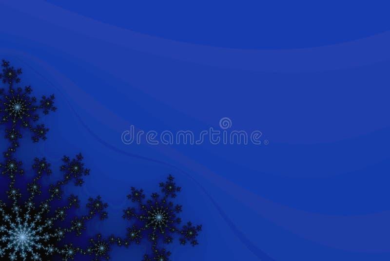 Fondo Azul Con Los Copos De Nieve Las Flores O Las