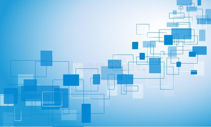 fondo azul con rectángulos stock de ilustración