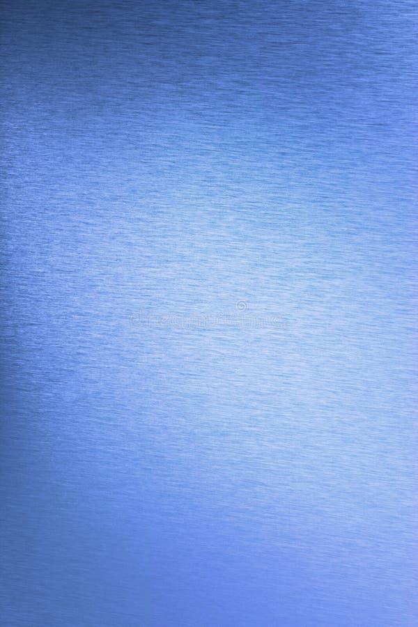Fondo azul de acero inoxidable foto de archivo