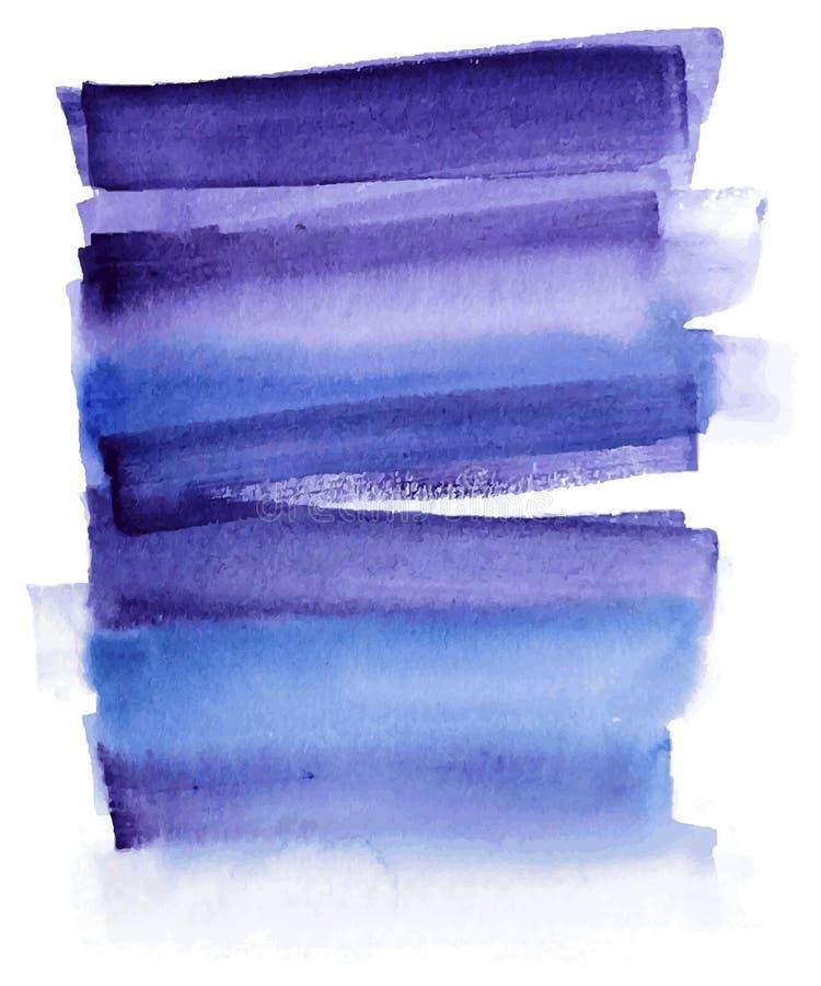 Fondo azul de la acuarela para su diseño libre illustration