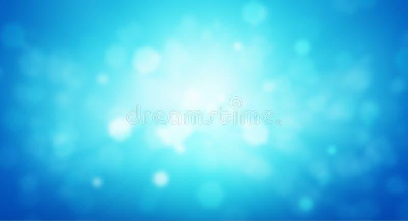 Fondo azul de la biología ilustración del vector