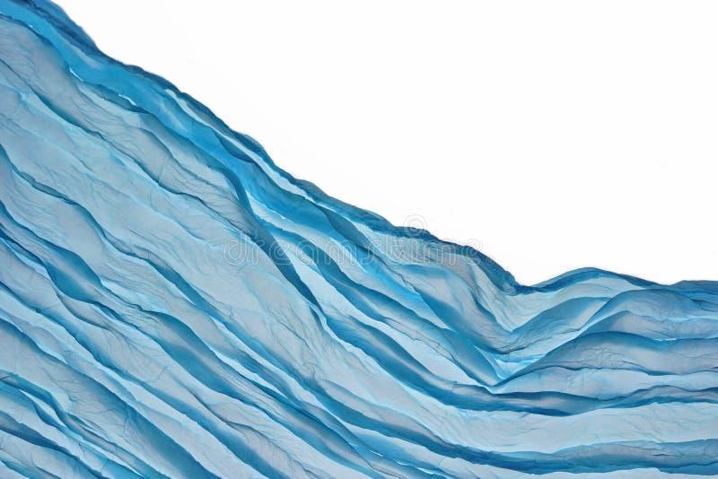 Fondo azul de la esquina de Aqua Water Wavy Fabric Textured fotografía de archivo libre de regalías