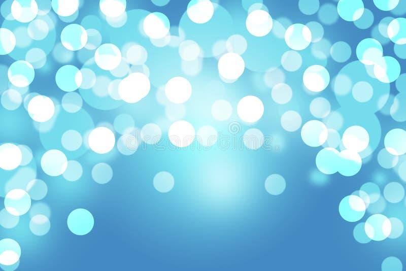 Fondo azul de la luz del extracto del bokeh foto de archivo libre de regalías
