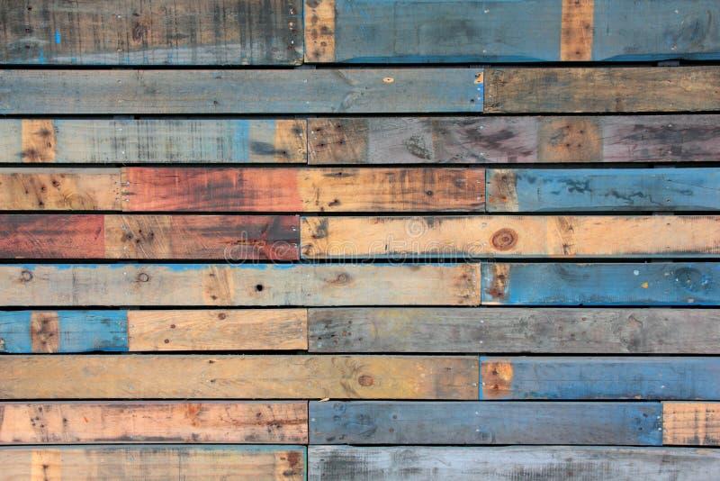 Fondo azul de la madera fotos de archivo libres de regalías