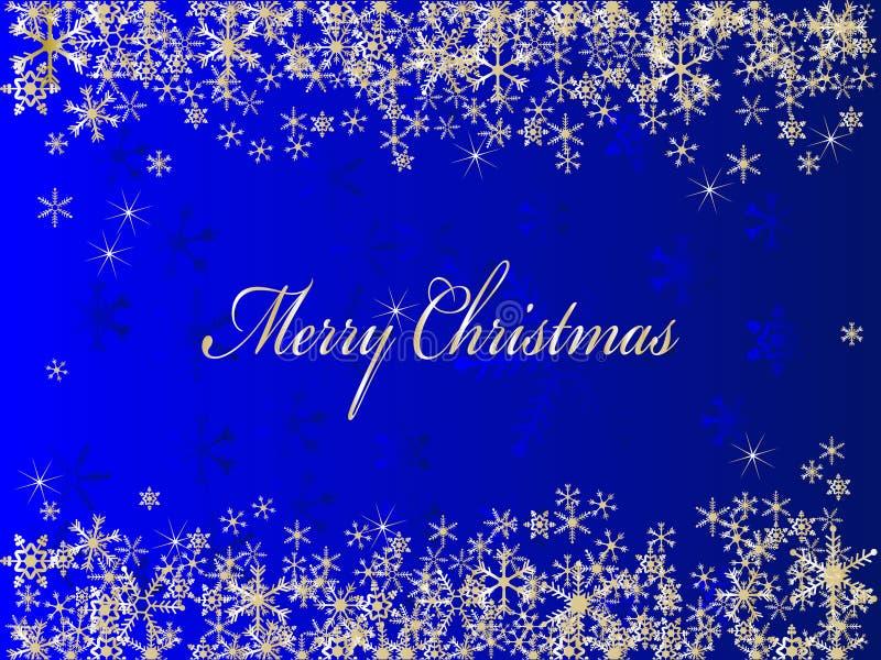 Fondo azul de la Navidad stock de ilustración