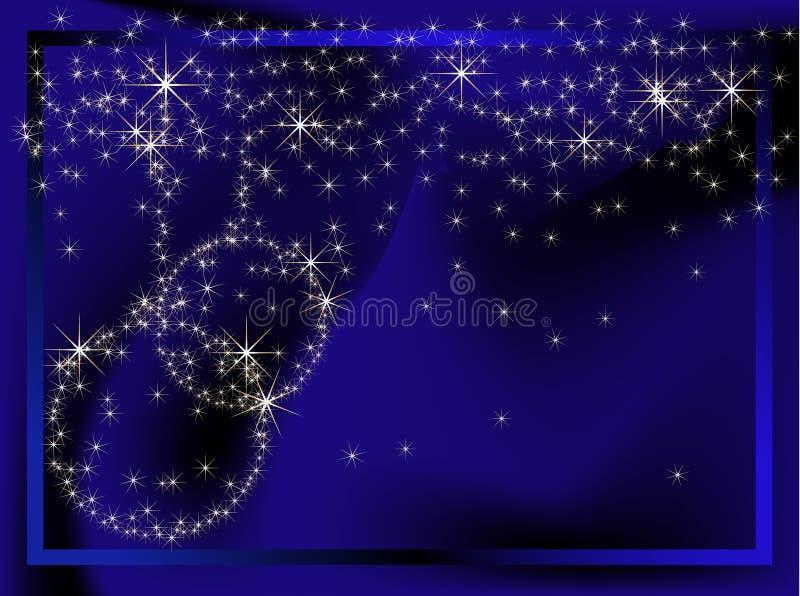 Fondo azul de la Navidad ilustración del vector