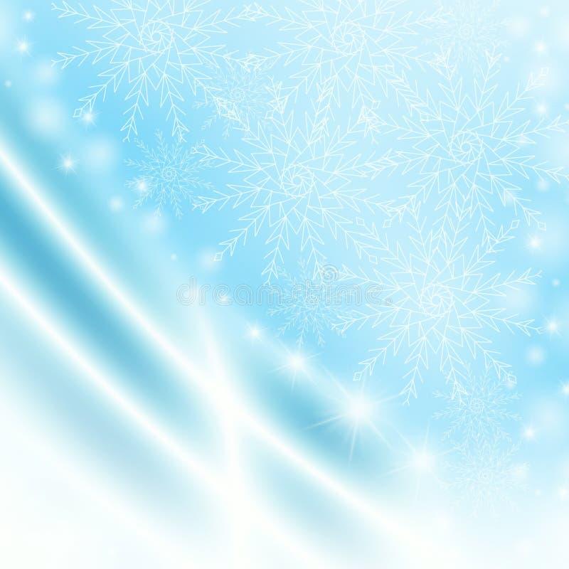 Fondo azul de la Navidad de la abstracción para la tarjeta libre illustration