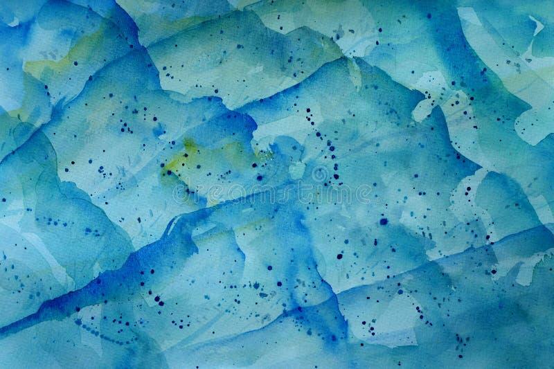 Fondo azul de la onda ilustración del vector