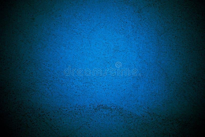 Fondo azul de la pared con diseño de la frontera de la textura fotografía de archivo