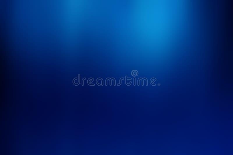 Fondo azul de la pendiente del bokeh abstracto stock de ilustración