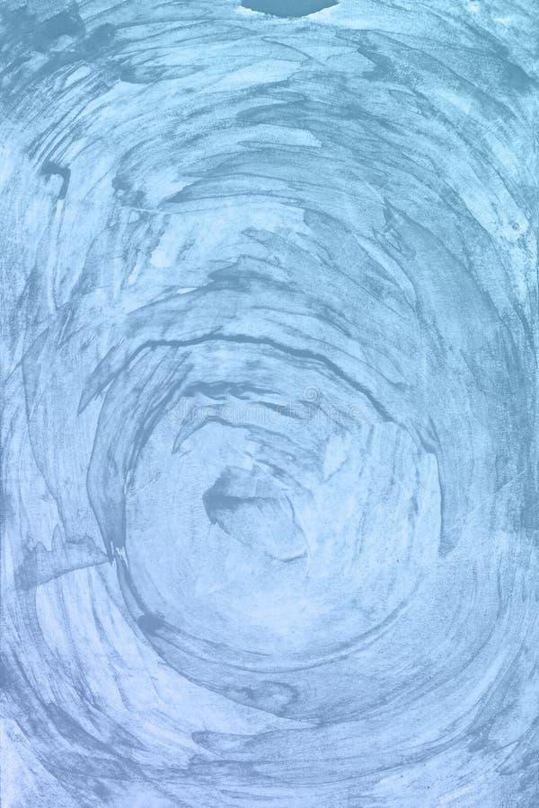 Fondo azul de la pintura de la acuarela Mano mágica del arte dibujada foto de archivo