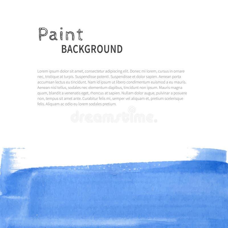 Fondo azul de la pintura de la acuarela libre illustration