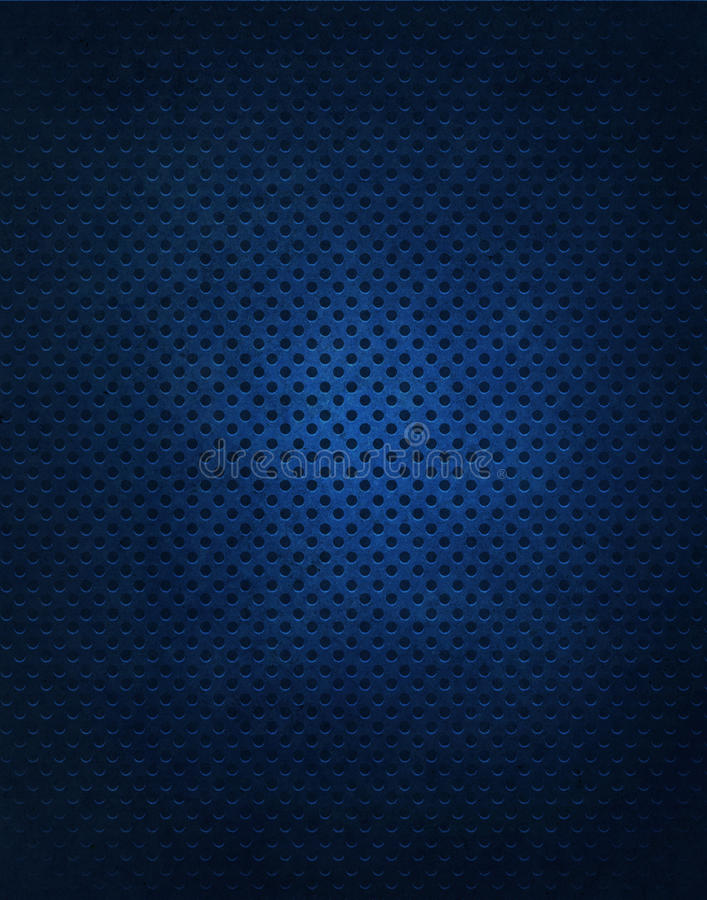 Fondo azul de la rejilla del metal ilustración del vector