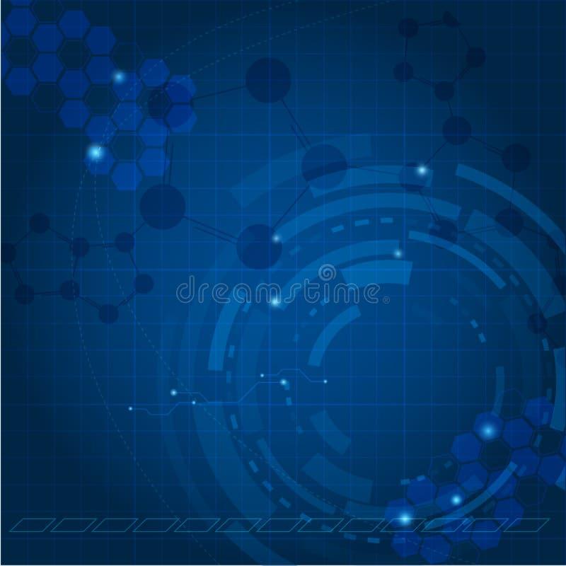 Fondo azul de la tecnología ilustración del vector