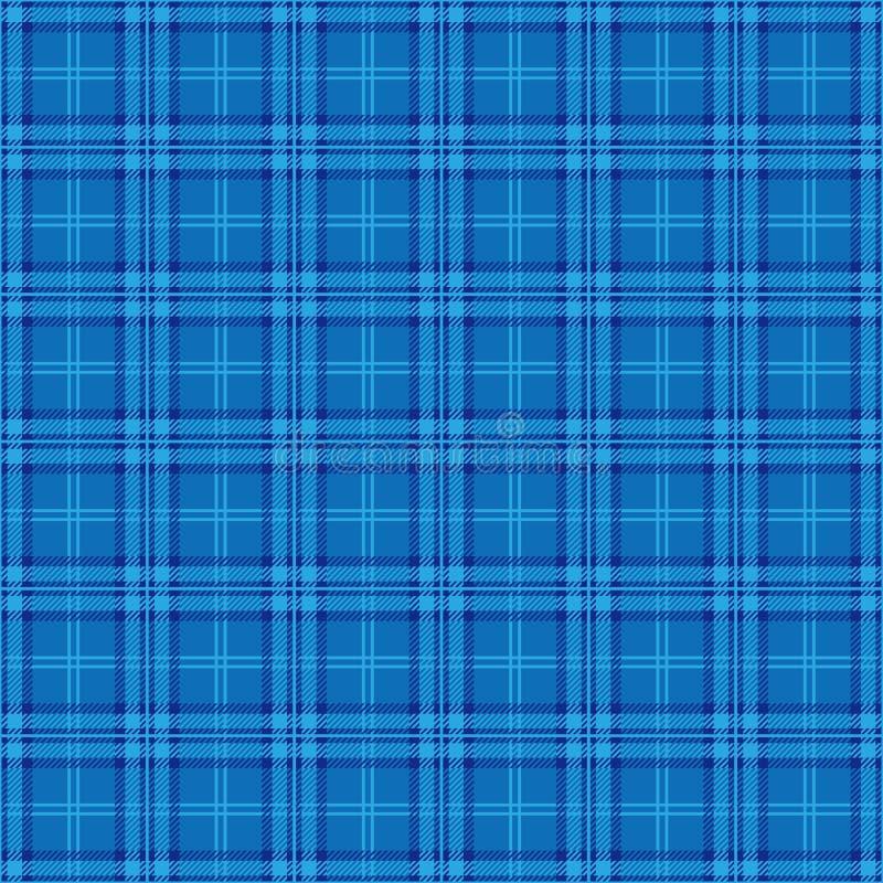 Fondo azul de la tela escocesa del argyle ilustración del vector