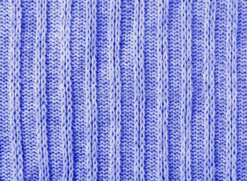 Fondo azul de la textura de los géneros de punto fotos de archivo libres de regalías